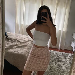 Pink Plaid More & More Skirt